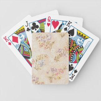 Floral design with peonies, lilies and roses for S Bicycle Playing Cards