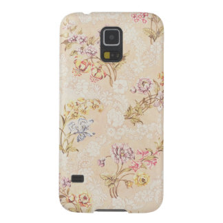 Floral design with peonies, lilies and roses for S Galaxy S5 Cover