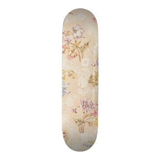 Floral design with peonies, lilies and roses for S Skateboard Deck