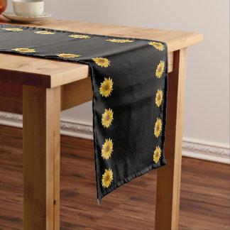 Floral design, yellow sunflowers - elegant short table runner