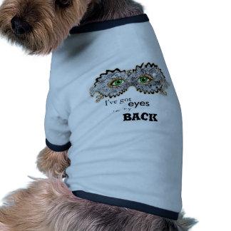 Floral designed mask ringer dog shirt