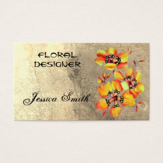 Floral Designer - Bright Beautiful Orange Flowers Business Card