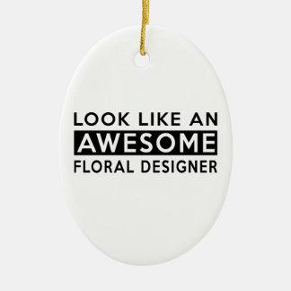 FLORAL DESIGNER DESIGNS CHRISTMAS ORNAMENT