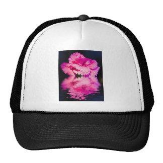 Floral digital art pinks hat