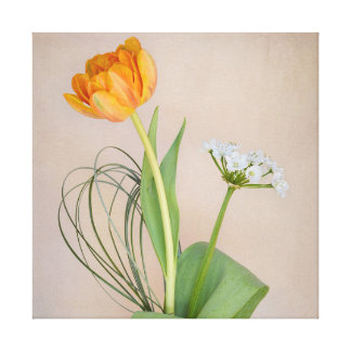 FLORAL DISPLAY WRAPPED CANVAS