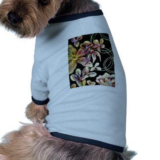 Floral Dog Tee Shirt