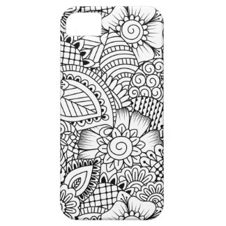 Floral Doodle Pattern iPhone 5 Cases