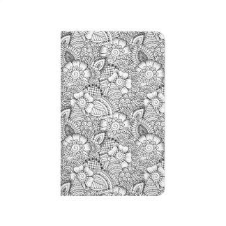 Floral Doodle Pattern Journal