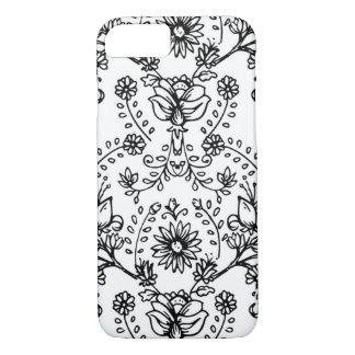 floral doodle phone case