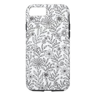 Floral Doodles Coloring iPhone 8/7 Case