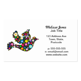 Floral Dove of flowers Business Card
