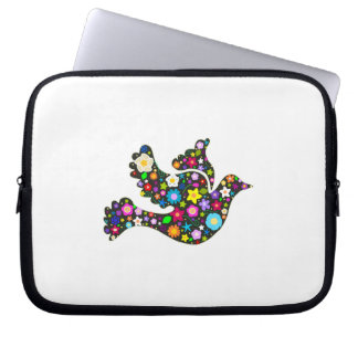 Floral Dove of flowers Laptop Sleeve