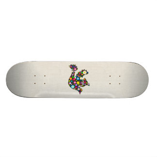 Floral Dove of flowers Skate Board Decks