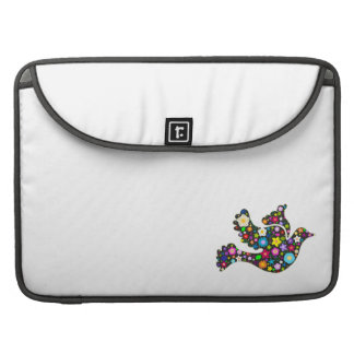 Floral Dove of flowers Sleeve For MacBook Pro