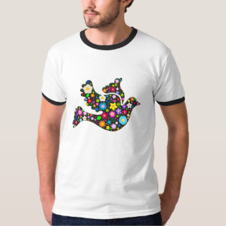 Floral Dove of flowers T-Shirt