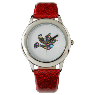 Floral Dove of flowers Watch
