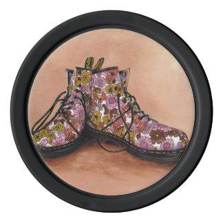 Floral Dr Martens Boots Poker Chips