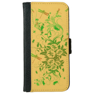 Floral Dragonfly iPhone6 Wallet Case