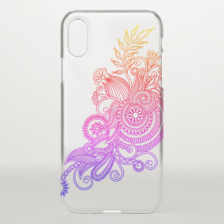 Floral Drawing iPhone X Case