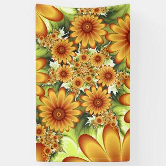 Floral Dream, Modern Abstract Flower Fractal Art Banner