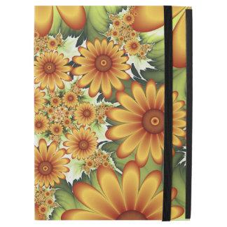 "Floral Dream, Modern Abstract Flower Fractal Art iPad Pro 12.9"" Case"