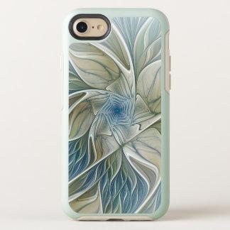 Floral Dream Pattern Abstract Blue Khaki Fractal OtterBox Symmetry iPhone 8/7 Case