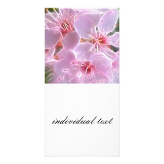 Floral Dreams 02 pink Custom Photo Card