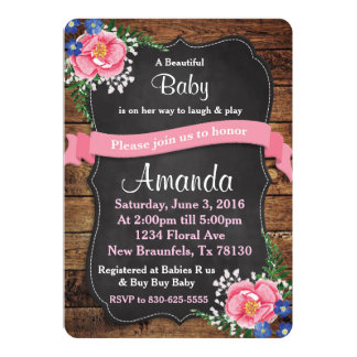 Floral Duo Baby Shower or Wedding Invitation
