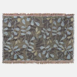 Floral Earthtone Designer Pattern Throw Blanket
