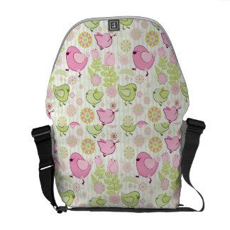 Floral Easter Chicks Messenger Bag