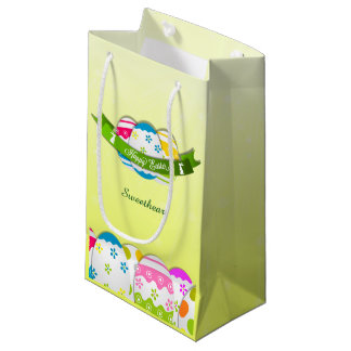 Floral Easter Eggs and Easter Wish Small Gift Bag