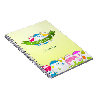 Floral Easter Eggs and Easter Wish Spiral Notebook