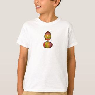 """""""Floral Easter Eggs"""" - Shades of Orange T Shirts"""