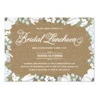 Floral Elegance | Bridal Shower Luncheon Card
