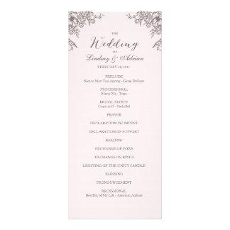 Floral Elegance Wedding Program Rack Card