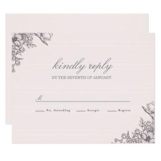 Floral Elegance Wedding RSVP Card