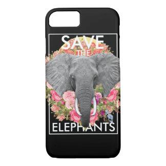 floral elephant phone case
