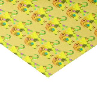 Floral Elephant Tissue Paper