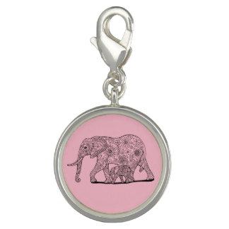 Floral Elephants Lineart Design