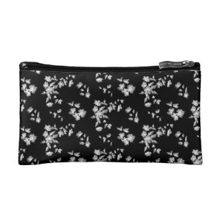 Floral embroidery cosmetic bag