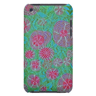 Floral Extravaganza Colorful Flowers Doodle Teal Barely There iPod Cases