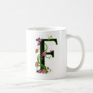 Floral F Coffee Mug