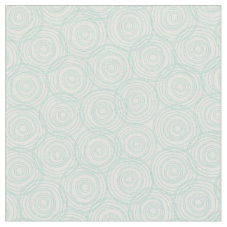 Floral fabric green wood grain, circle grain