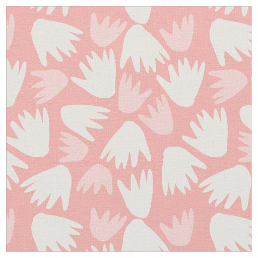 Floral Fabric Pink Pattern