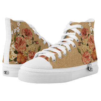 Floral fabric printed shoes