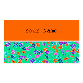 Floral Fabric Seamless Pattern colored Pack Of Standard Business Cards