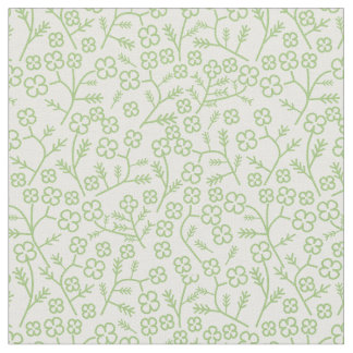 Floral fabric with four leaves clover