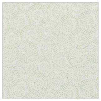 Floral fabric with green circle wood grain