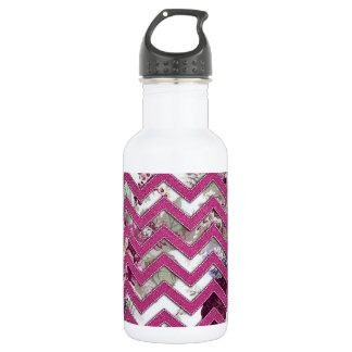Floral Fabric Zig Zag 532 Ml Water Bottle
