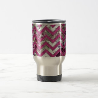 Floral Fabric Zig Zag Travel Mug